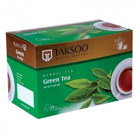 چای کیسه ای سبز تکسو