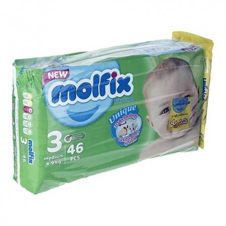 پوشک مولفیکس سایز 3 بسته 46 عددی | جی شاپ