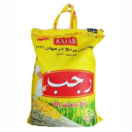 برنج هندی دانه بلند رجب 10 کیلوگرم | جی شاپ