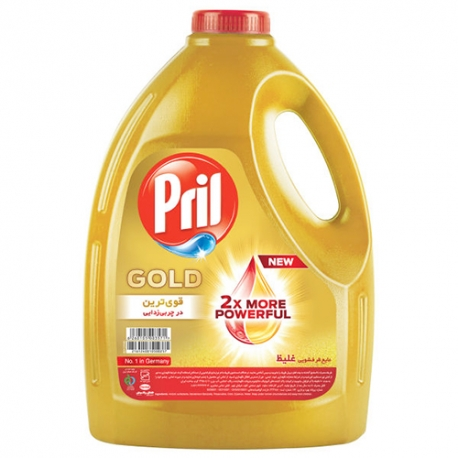 مایع ظرف شویی پریل طلایی 4 لیتری
