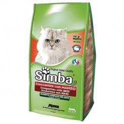 غذای خشک گربه بالغ سیمبا با طعم گوشت 2000 گرمی