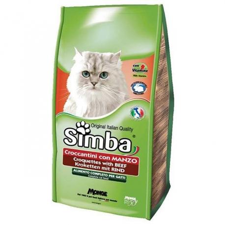 غذای خشک گربه بالغ سیمبا با طعم گوشت | جی شاپ