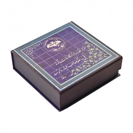 گز سکه لقمه 40 درصد پسته 300 گرمی زعفرانی فانتزی برند عتیق | جی شاپ