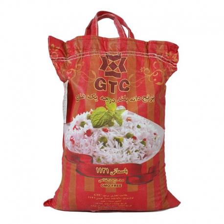 برنج هندی دانه بلند جی تی سی 10 کیلوگرم | جی شاپ