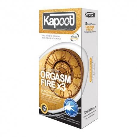 کاندوم محرک آتشین ارگاسم تری کاپوت | جی شاپ