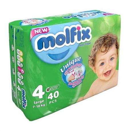 پوشک مولفیکس سایز 4 بسته 40 عددی | جی شاپ
