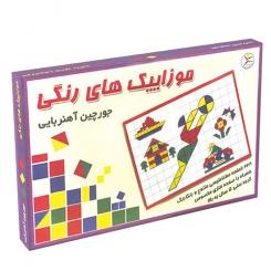 بازی جورچین آهنربایی موازییک های رنگی