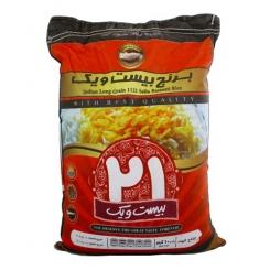 برنج هندی دانه بلند بیست و یک 10 کیلوگرم
