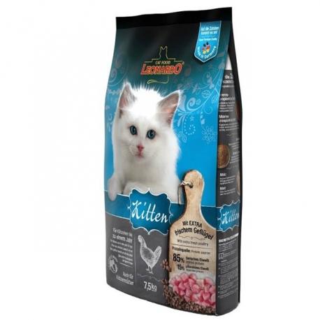 غذای خشک بچه گربه لئوناردو با طعم مرغ | جی شاپ