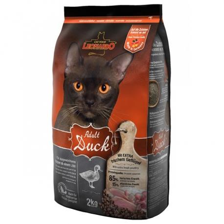 غذای خشک گربه بالغ حساس لئوناردو با طعم اردک | جی شاپ
