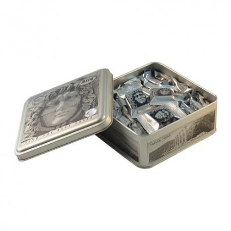 گز سکه لقمه پسته شکلاتی 450 گرمی مدوزا فلزی برند عتیق | جی شاپ
