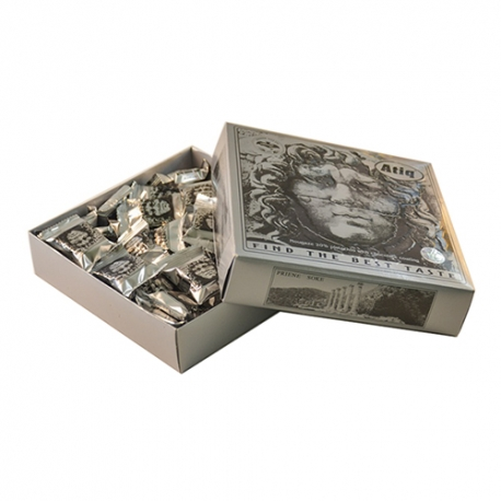 گز سکه لقمه پسته شکلاتی 450 گرمی مدوزا مقوایی برند عتیق | جی شاپ