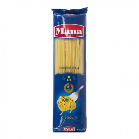 اسپاگتی مانا قطر 1.4 بسته 500 گرمی | جی شاپ