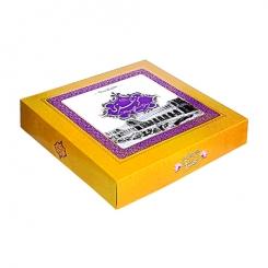 گز مظفری لقمه زعفرانی 35 درصد پسته 400 گرمی عسلی شیرخشتی