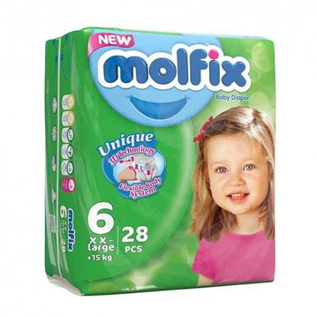 پوشک مولفیکس سایز 6 بسته 28 عددی | جی شاپ