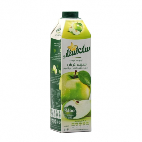 آب میوه طبیعی سیب ترش سان استار 1 لیتری | جی شاپ