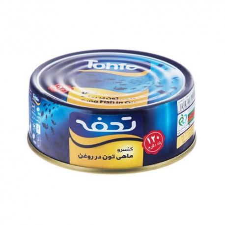 کنسرو ماهی تن در روغن تحفه 120 گرمی | جی شاپ