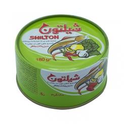 کنسرو ماهی تن در روغن با سبزیجات معطر شیلتون 180 گرمی