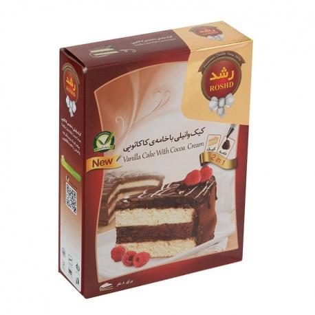 پودر کیک وانیلی با خامه کاکائویی رشد 500 گرمی 8 نفره | جی شاپ