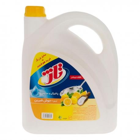 مایع ظرف شویی تاژ 4 لیتری حاوی لیمو و جوش شیرین | جی شاپ