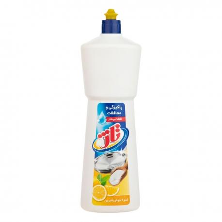 مایع ظرف شویی تاژ یک لیتری حاوی لیمو و جوش شیرین | جی شاپ