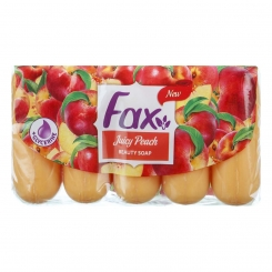صابون فاکس عصاره هلو 70 گرمی بسته 5 عددی